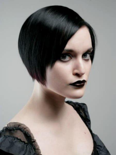 striking  glamorous short gothic hairstyle