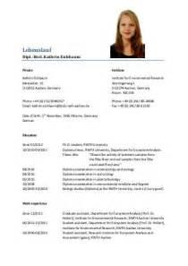 Tabellarischer Lebenslauf Chemiker Lebenslauf 1 Bildung De