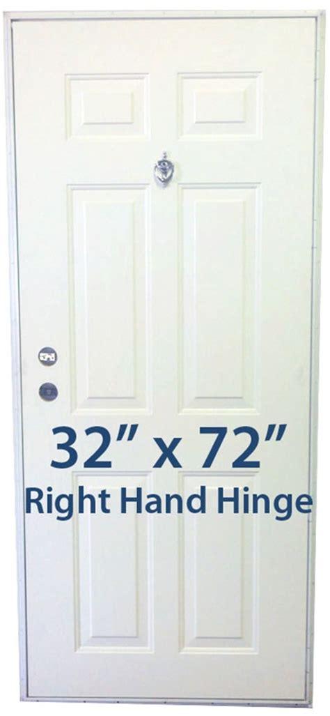 32 X 72 Exterior Door Steel 6 Panel Outswing 32x72 Rh