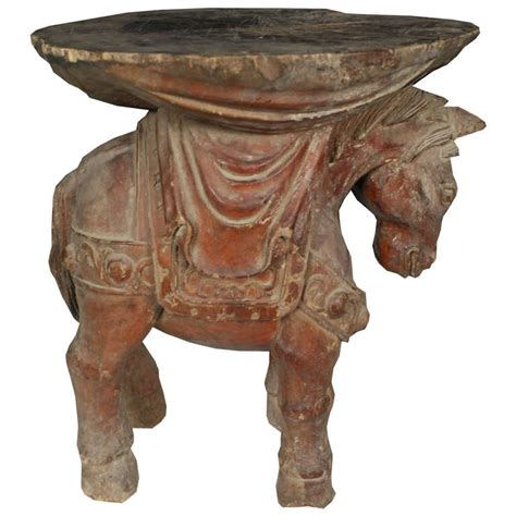 Stools In Horses by Early 20th Century Carved Stool At 1stdibs