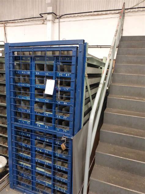 Shelf Stocker Description by Steel 36 Shelf Stock Storage Rack Approx Length 8ft