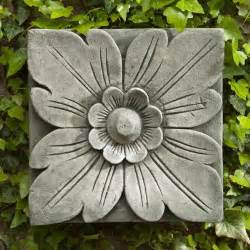 Cast stone outdoor wall art plaque aged lim traditional outdoor decor