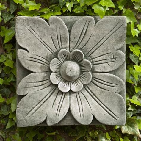 outdoor home wall decor cania international square flower cast stone outdoor