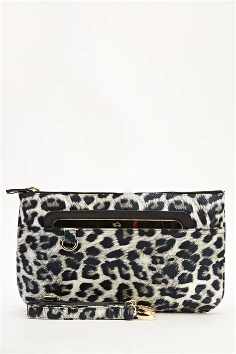 Up Of Designer Animal Print Clutch by Animal Print Holographic Clutch Bag Just 163 5
