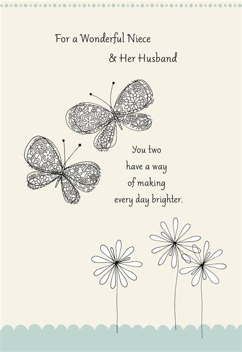 wedding wishes for niece butterflies wedding card for niece greeting cards hallmark