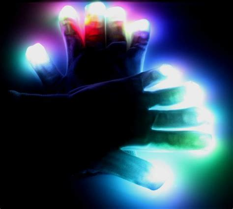 Light Show Gloves by Led Light Show Gloves Multicolored 6 Mode