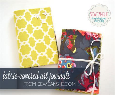 fabric journal pattern fabric covered art journals my sew my stash project