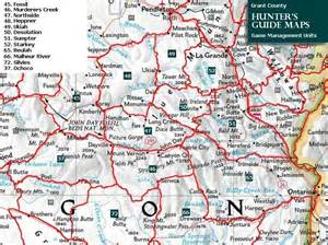 Oregon Hunting Map by Maps Grant County Chamber Of Commerce Oregon