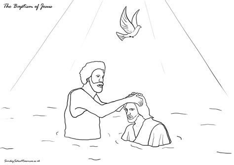 coloring page of john baptizing jesus sunday school jesus bible coloring pages