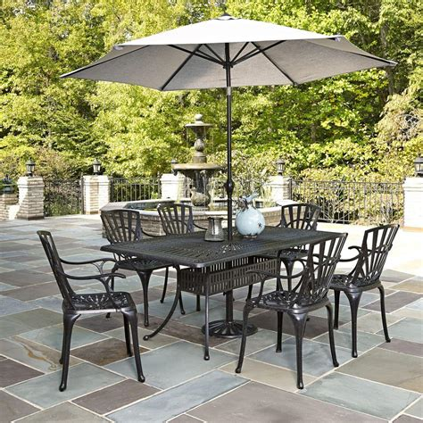 Home Styles Largo 7 Piece Outdoor Patio Dining Set With 7 Pc Patio Dining Set