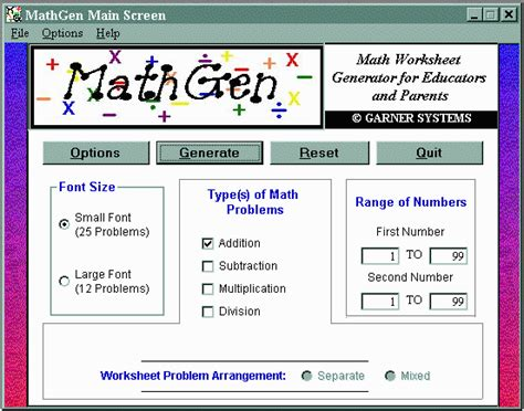 Math Facts Worksheet Generator by Remedial Math Worksheet Software Free Sle Worksheets