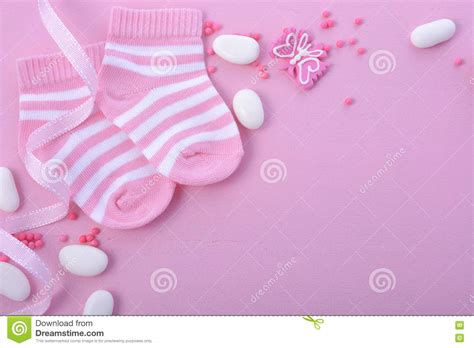 Pink Baby Shower Background by Pink Baby Shower Nursery Background Stock Photo Image