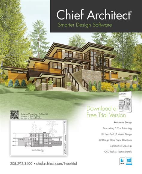 home design and architect magazine chief architect home design software ad