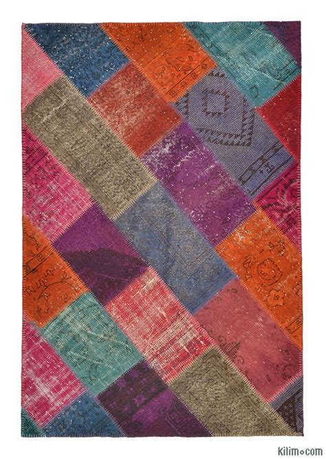 Overdyed Patchwork Rugs - small size overdyed patchwork kilim rugs overdyed