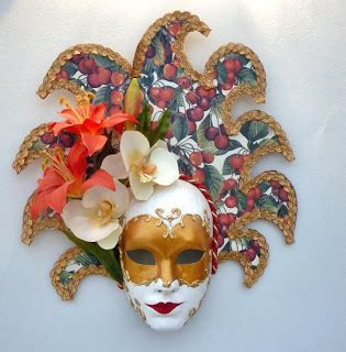 Decoupage Mask - decoupage papercraft 50th birthday venetian masquerade