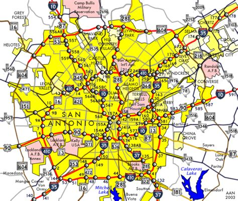 san antonio on map of texas san antonio map free printable maps