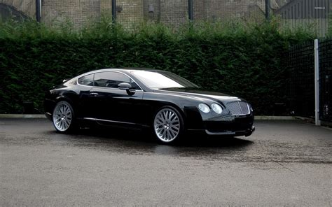 black bentley view of a black bentley continental gt wallpaper