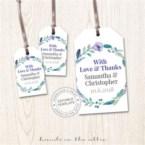wedding favor tags printable mini wedding tags thank you