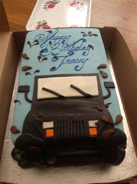jeep cake my jeep birthday cake cake decorating tips