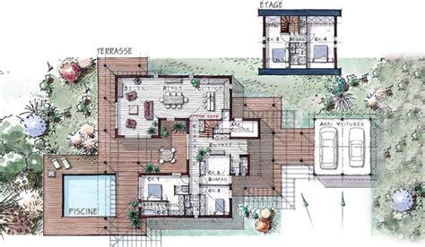 villa patio maison ossature bois 224 233 tage 184 m 178 5 chambres