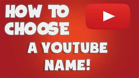 how to come up with a youtube name youtube