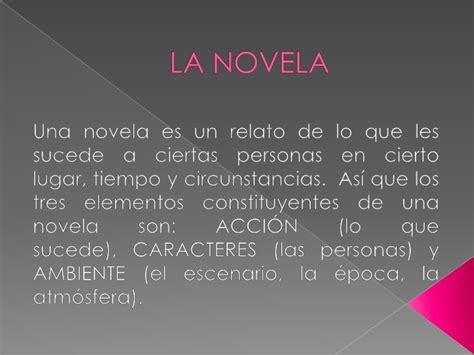 diapositivas la novela