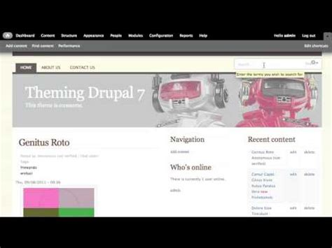 drupal theme add js drupal 7 tutorial adding javascript to a theme youtube