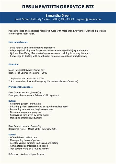 professional er resume exle resume writing service
