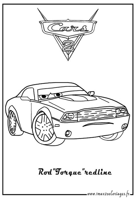 Cars 2 Rod Redline Coloring Pages Sketch Coloring Page