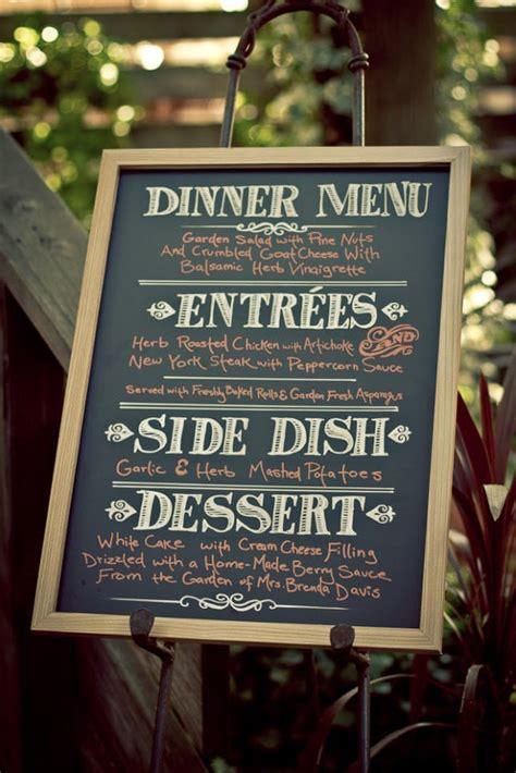 menu ideas for a dinner 25 innovative ways to showcase a menu brit co