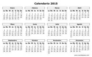 Calendarios Para Imprimir 2015 Colecci 243 N De Calendario 2015 Para Imprimir