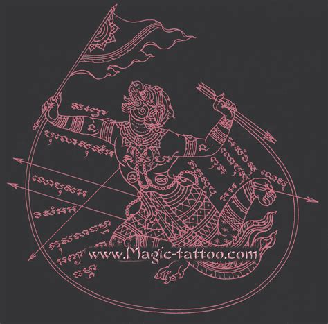 sak yant hanuman tattoo yantra tattoos with the mythical