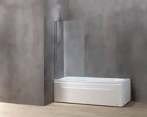 rectangle white acrylic bathtub with glass door on the