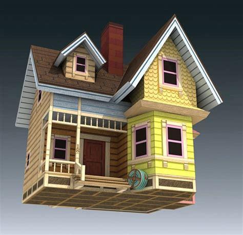 printable 3d up house la casa volante di carl fredricksen del film up papermodels