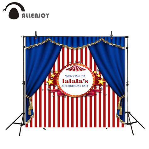 Multiplek 9 Mm Tahun allenjoy photography backdrop circus birthday tent blue background photocall