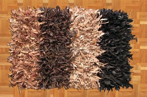 leather shaggy rugs in agra uttar pradesh india shri