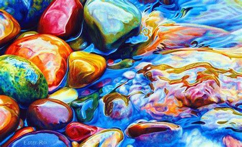 artes visuales imagenes no realistas piedras de color las pinturas realistas de ester roi