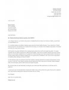 Dietitian Consultant Cover Letter by Sle Cover Letter How To Write A Cover Letter Dietitian