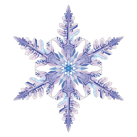 snowflake with white background vector material 04