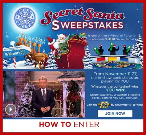 How To Enter Wheel Of Fortune Secret Santa Sweepstakes - secret santa wheel of fortune sweepstakes sweeps maniac