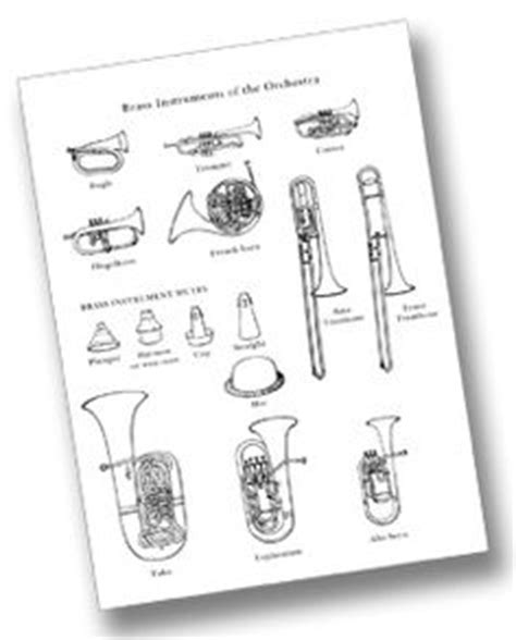 coloring pages instruments of the orchestra 1000 images about art class handouts worksheets on