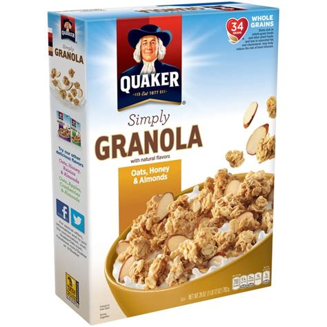 Oatbits Oat 8 Almond 28 5g quaker simply granola oats honey almond cereal 28 oz