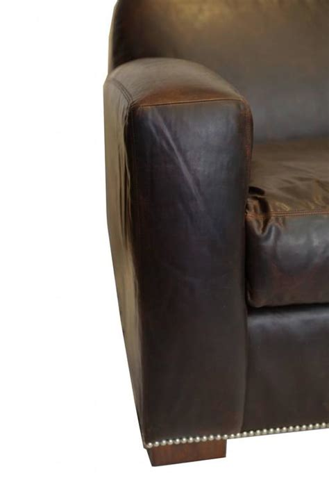 ralph lauren leather sofa sale new quot graham quot leather sofa by ralph lauren for sale at 1stdibs