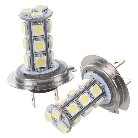 2 x 2 led lights price 2 x car h7 xenon 18 smd led bulb light l bulb s6g8 ebay