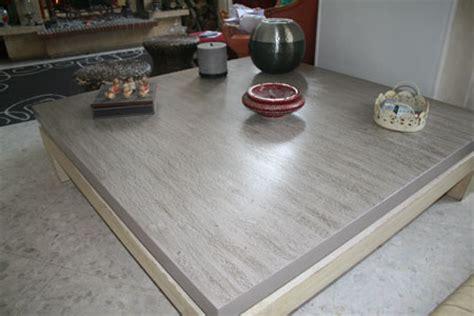 renover une table basse en bois et carrelage rc15