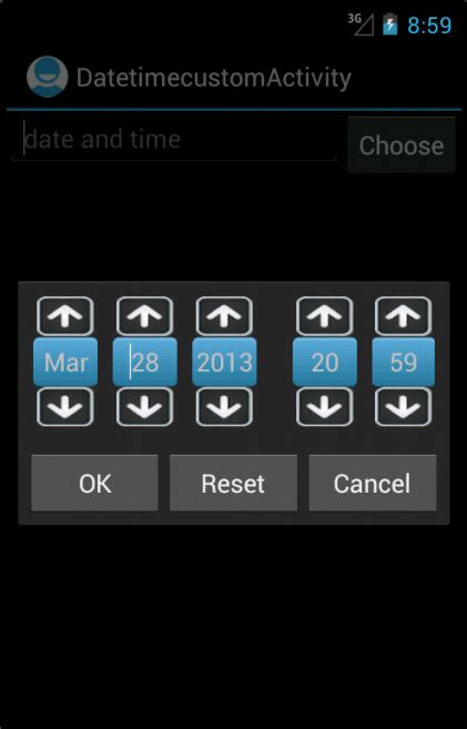 datepicker mobile how to create custom date time picker in android develop