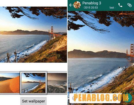 merubah wallpaper chat whatsapp android