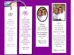 Wedding Favors Bookmarks by Bookmark Wedding Favors The Wedding Specialists