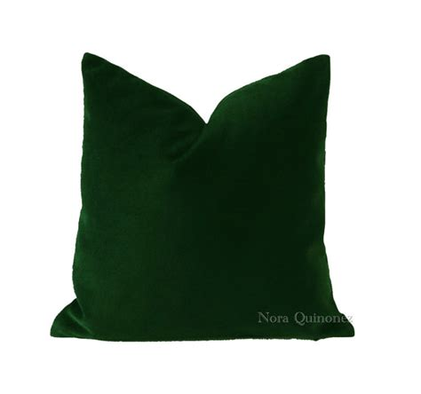 Green Velvet Throw Pillows by Green Cotton Velvet Pillow Cover Decorative Accent