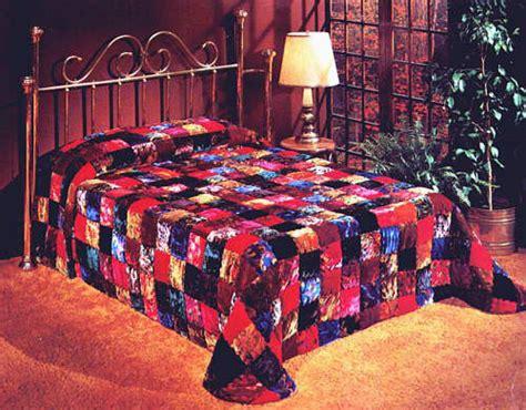 Velvet Patchwork Quilt King - patchwork designer velvet king waterbed quilt